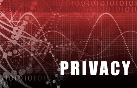 safer: Online Privacy Abstract on a Digital Background