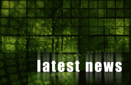 the latest: Latest News Abstract Background in Green Color
