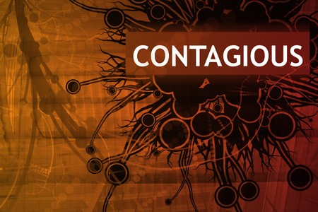 contagious: Contagious Danger Alert Abstract Background in Red
