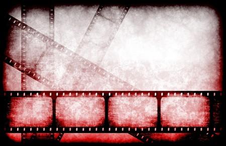 suspens: Abr�g� film d'horreur comme caract�ristique Bobine de fond Banque d'images