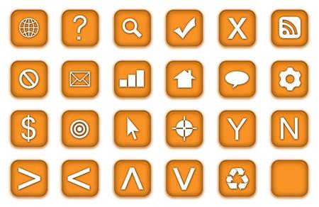 Web Icons Set in Aqua Gold Symbols photo