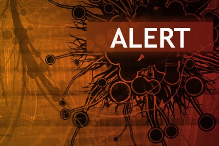 Danger Security Alert Abstract Background in Red Stock Photo - 3981214