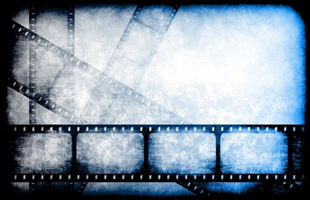 video reel: TV Channel Movie Guide on Abstract Background Stock Photo