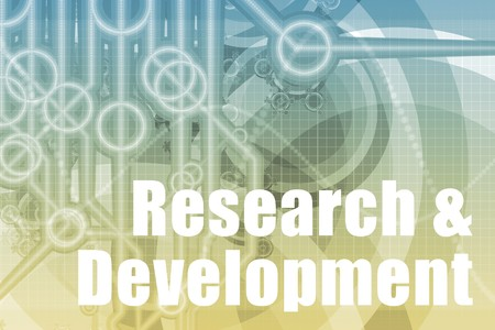 research and development: Research and Development Abstract Background in Blue Color