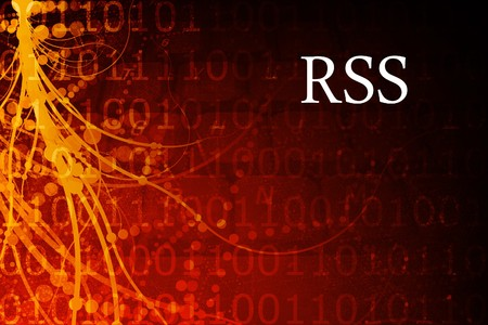 RSS Abstract Background in Red and Black Stock Photo - 3985397