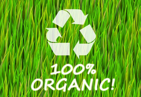 100% Organic and Pure Now Abstract Background photo