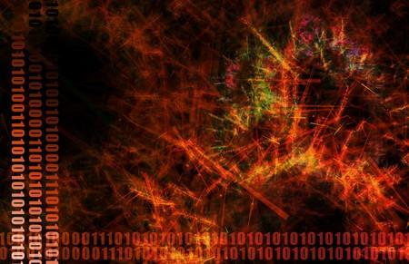 Red Danger Spreading Virus Network Abstract Art  Stock Photo - 4026159
