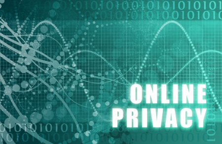 snooping: Online Privacy Abstract on a Digital Background