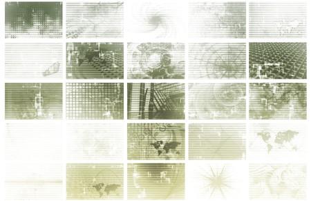 Futuristic Web Cyber Data Grid Color Background Stock Photo - 4026165