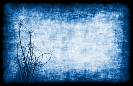 Grunge Background Floral Abstract in Soft Blue photo