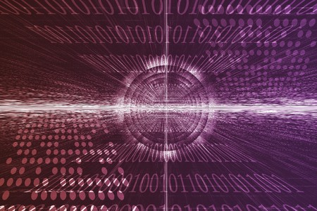 Futuristic Technology Data Flow Color Digital Abstract Stock Photo - 4043699