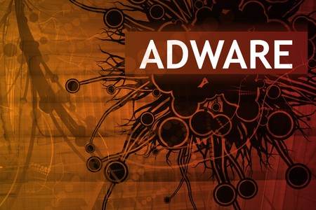 adware: Adware Security Alert Abstract Background in Red