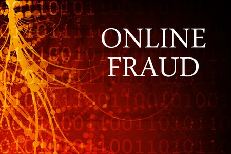 animal related: Online Fraud Abstract Background in Red and Black