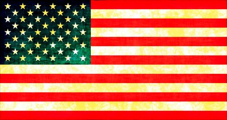 Grunge American Flag Texture as a Background Stock Photo - 4052348