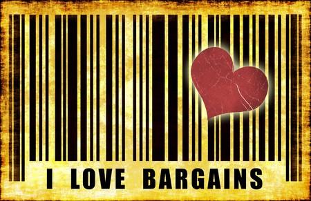 cheap: I Love Sales Cheap Shopper Grunge Abstract
