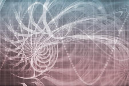 Alien portail Abstract arrière-plan avec la grille de données futuriste