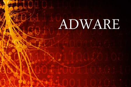 adware: Adware Abstract Background in Red and Black