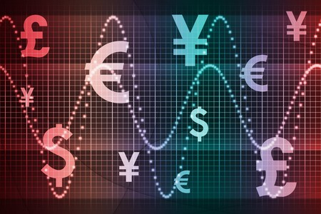 Gradient World Currencies Business Abstract Background Wallpaper Stock Photo - 4124217