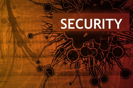 Danger Security Alert Abstract Background in Red Stock Photo - 4124162