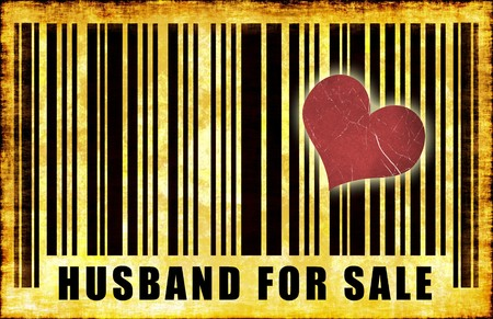 Husband For Sale on Abstract Art Background photo