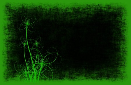 A Grunge Background Floral Abstract in Green photo
