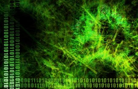 Neural Network Internet Tech Abstract Art Green photo