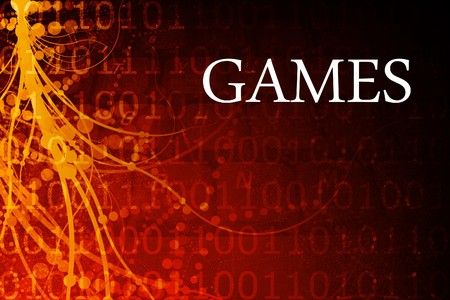 video gaming: Games Abstract Background in Red and Black
