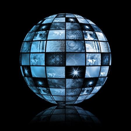 Global Media Technology World Sphere Clip Art Stock Photo - 4155274