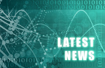 news update: Latest News Tech Abstract Background in Blue Color