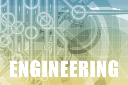 engineering concept: Engineering Tech Abstract Background in Blue Color Stock Photo
