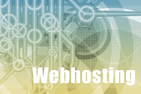 webhosting: Webhosting Tech Abstract Background in Blue Color