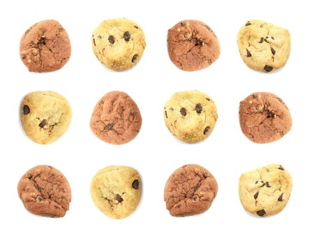 choco chips: Assorted Cookies Food Wallpaper Background On White