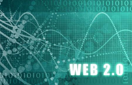 gen: Web 2.0 on a Digital Tech Background