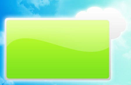 Blank Signboard With Blue Clouds As Background Stock Photo - 4167331