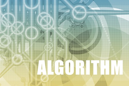 algorithm: Algorithm Tech Abstract Background in Blue Color Stock Photo
