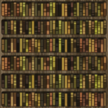 Books Organised Neatly on a Wooden Shelf Stock Photo - 4167376