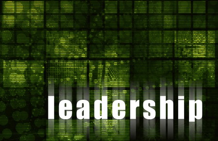 Leadership Quality Corporate as Abstract in Green Stock Photo - 4213080
