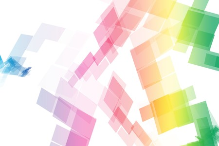 blocky: Rainbow Data Tech Blocks Abstract Wallpaper Background