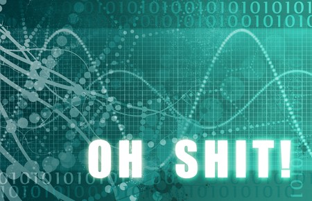 Oh Shit Message on a Digital Tech Background Stock Photo - 4226229