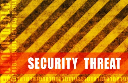 infiltration: Security Threat Cyber National Warning as Abstract Stock Photo