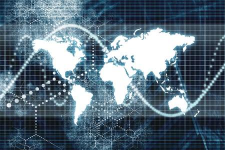 penetracion: Blue Digital World Business Resumen Con el gr�fico de fondo