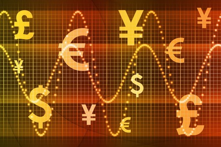 Orange Global Currency Business Abstract Background Wallpaper Stock Photo - 4231028