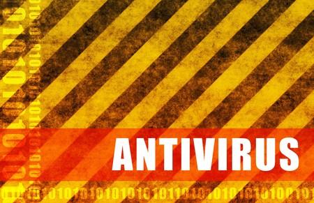 antivirus software: Antivirus Software System as a Message Background