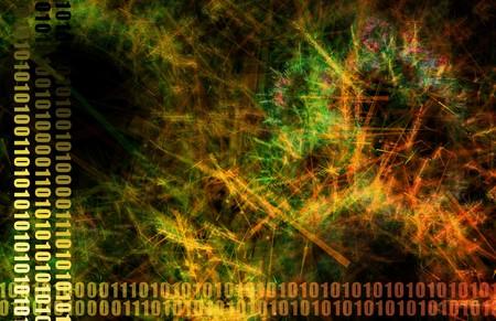 neural: Neural Network Internet Tech Abstract Art Orange