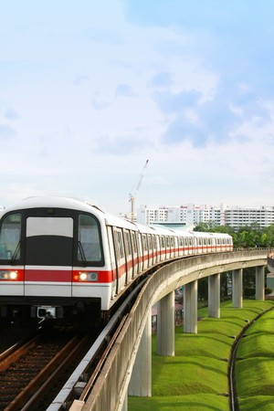 Singapore Mass Rapid Transit MRT Train Travel Stock Photo - 4276341
