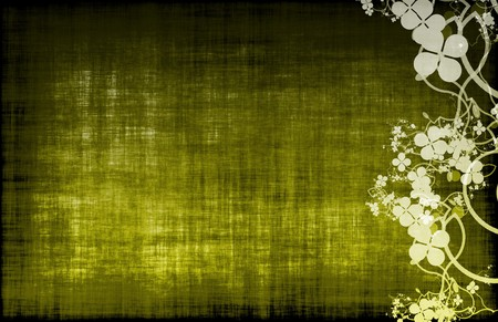 A Grunge Floral Decor Old Texture Background photo