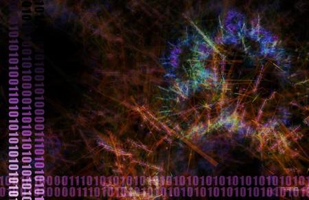 neural: Purple Neural Network Internet Tech Abstract Art
