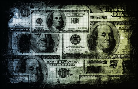 greenback: US Dollar Abstract Currency Notes as Background