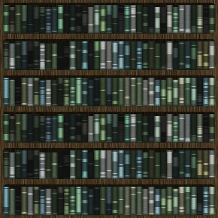 Library Books on Shelves as a Abstract Background Stock Photo - 4276404
