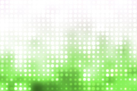 go green background: Green and White Glowing Futuristic Light Orbs Abstract Background Stock Photo